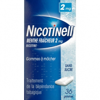 NICOTINELL 2MG GOMME MENT F SS SUCRE