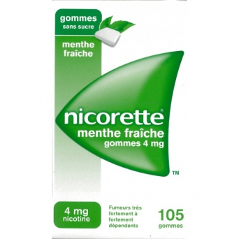 NICORETTE 4MG GOMME MENT G SS SUCRE